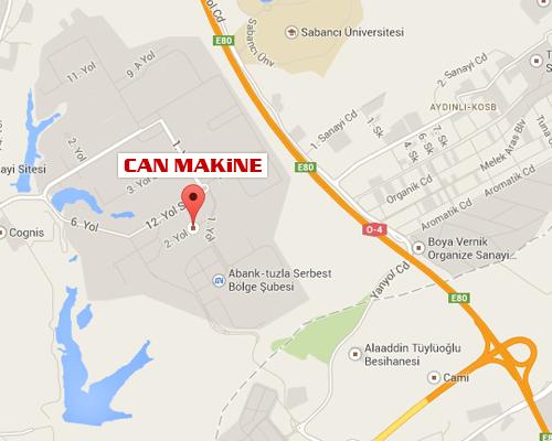 Can Makine Otomat Sanayi Harita